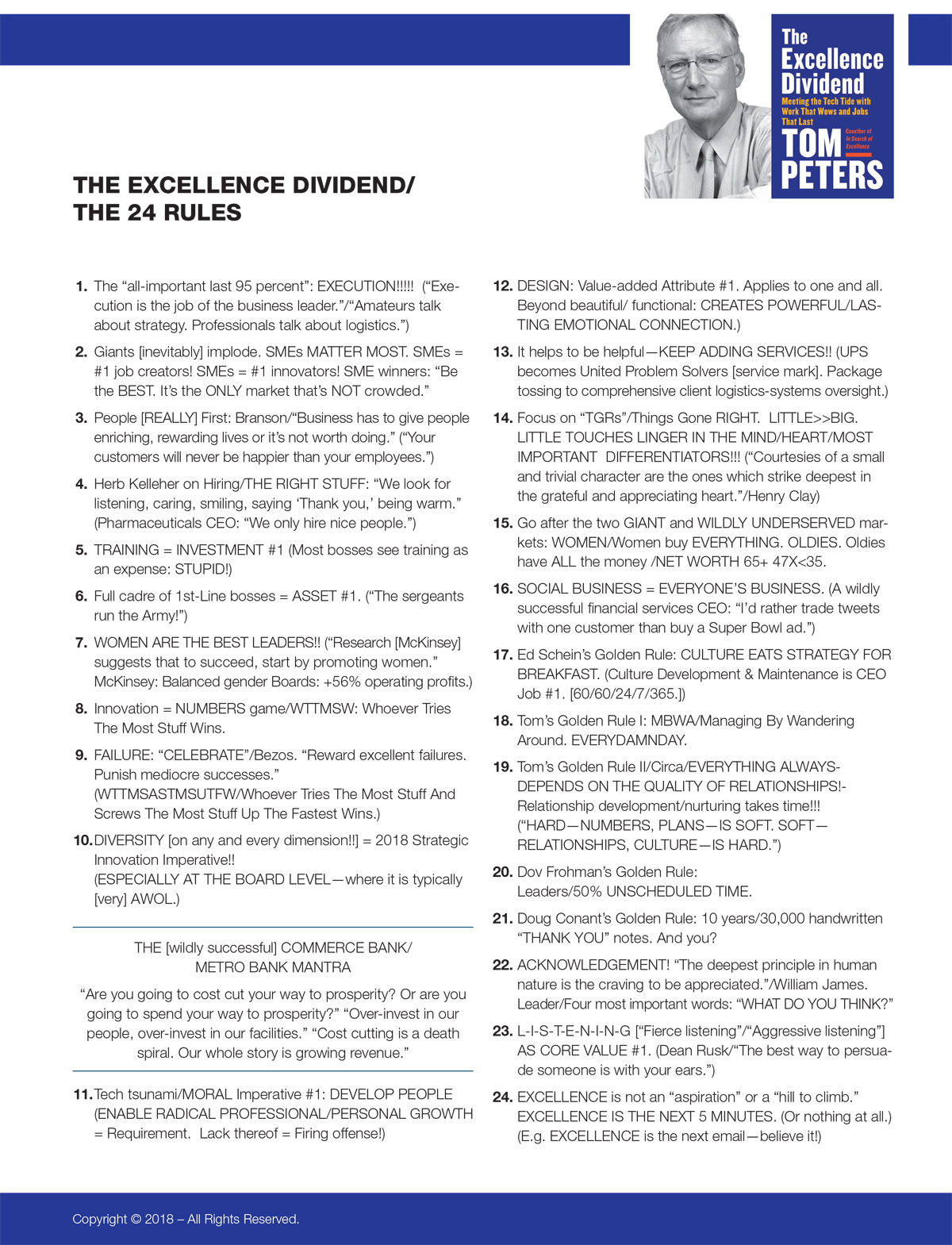 The 24 Rules by Tom Peters