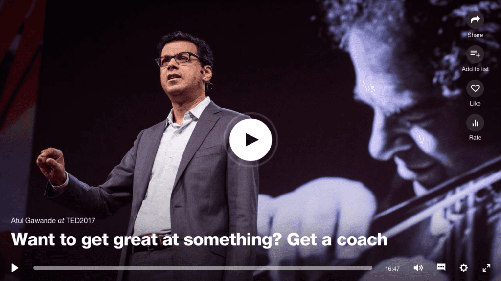 Want to get great at something? Get a Coach.